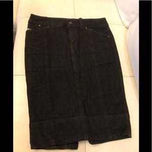 Diesel Black Jean Skirt